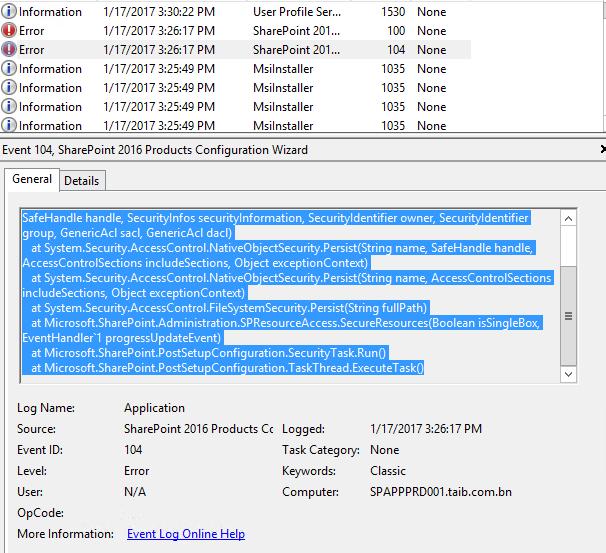 Event Log Security Exception C